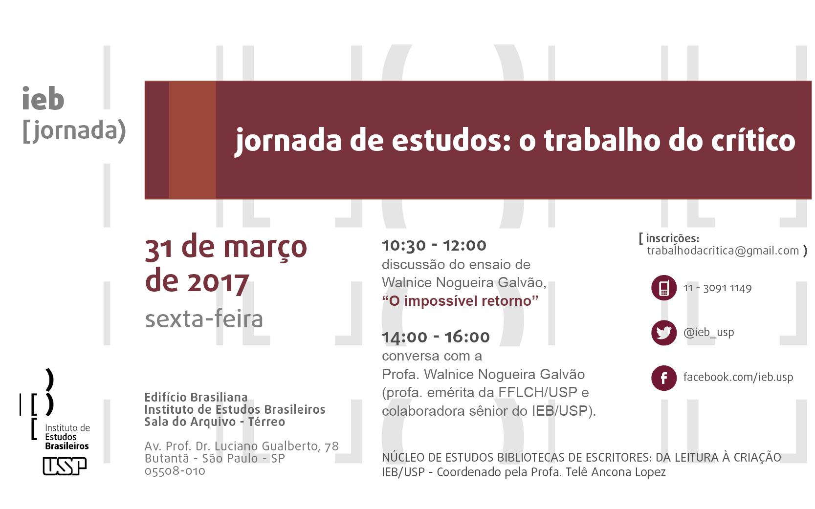 Jornada de estudos - o trabalho do critico - 31-03-2017